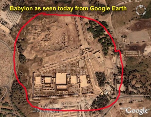 Parts of Babylon from Google Earth