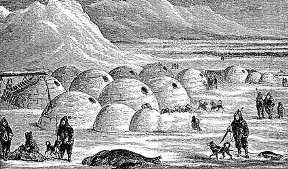 Igloo Village at Frobisher's arrival