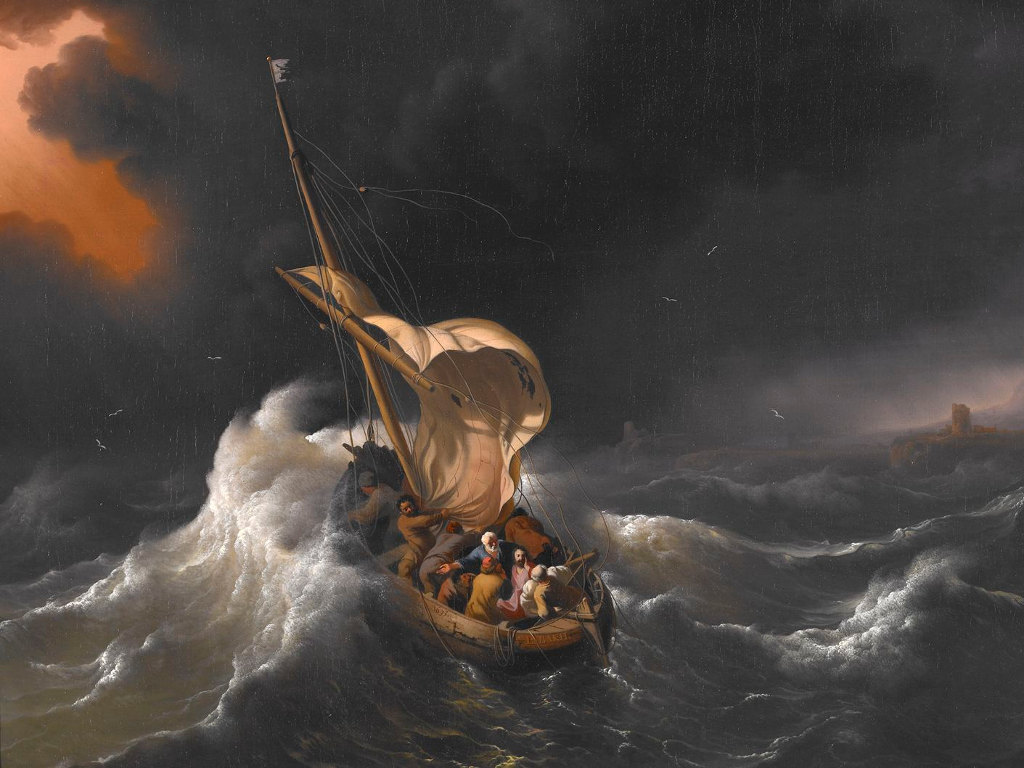 Christ in the Storm on the Sea of Galilee - 1695 by Ludolf Bakhuizen