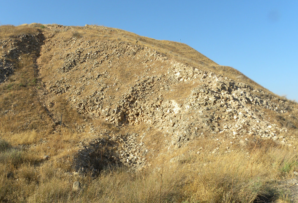 Siege ramp, Lachish archaeological site.