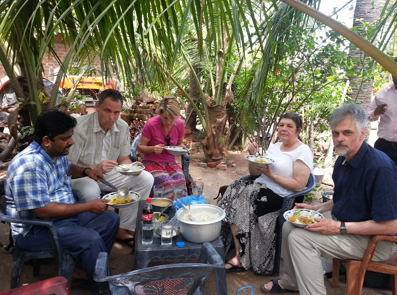 Open air meal at a church member's home