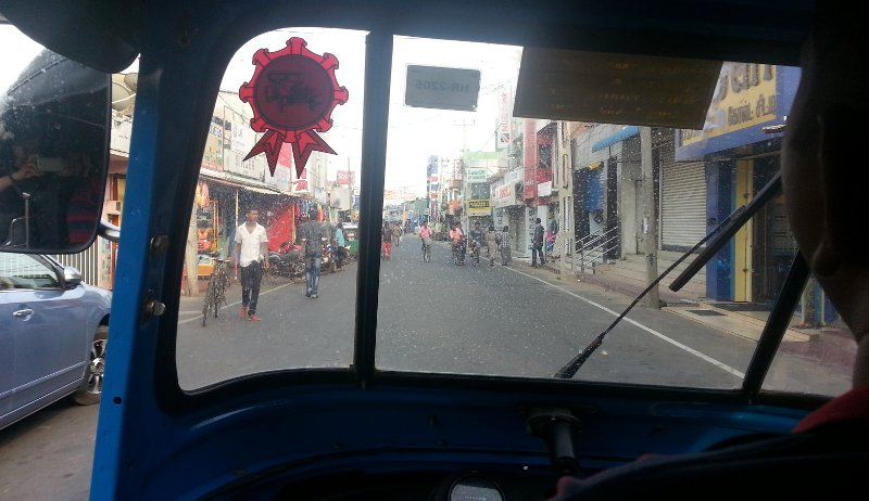 Being driven around Trincomalee in a three wheeled 'auto' or 'tuk-tuk' was quite an experience