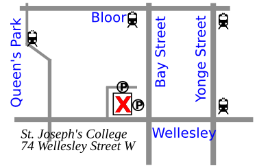 Map to St. Joseph's College